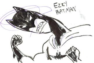 Batman & Axe Cop VS the Scribble Zombies with Ezzy