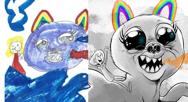 Monster Pets: Dog Cat Shark Rainbow