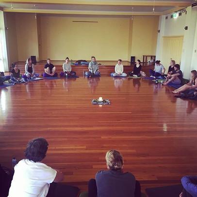 Opening circle of retreat, 2018