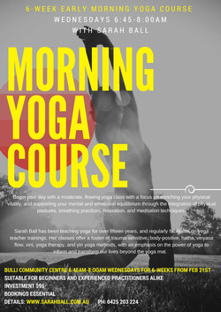 Morning Yoga 6-week Class