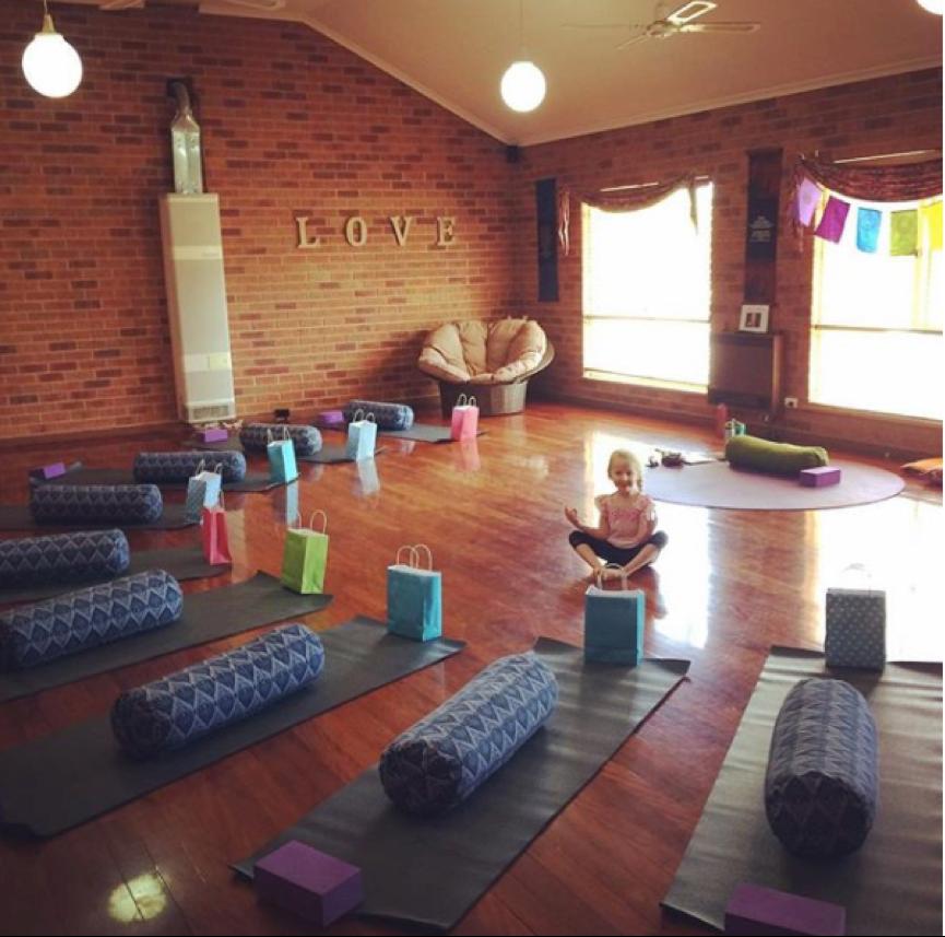 The lovely Aisha Flow Yoga Studio in Albury, where I facilitated Body Love Yoga in 2017