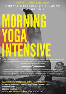 Morning yoga intensive 2018