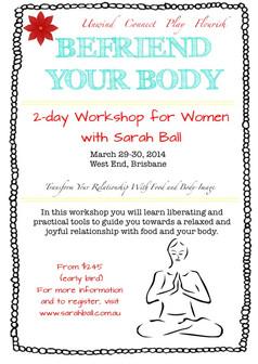Befriend Your Body 2-day workshop, Brisbane