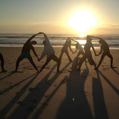 Partner Yoga on The Beach!