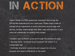 I'm thrilled to be co-leading Byron Bay's first Yoga In Action Group gathering in March 2014