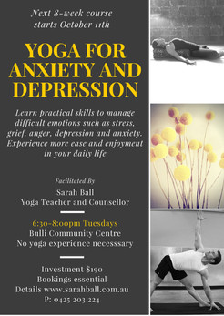 Yoga for Anxiety and Depression Course