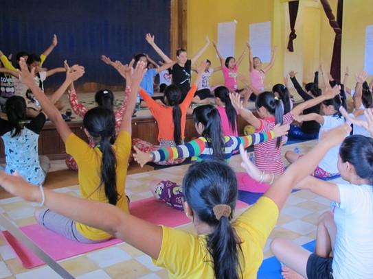 Teaching Yoga in Cambodia