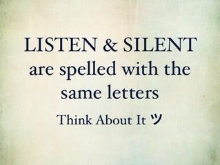 Listen and Silent are spelled with the same letters...