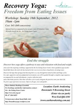 Recovery Yoga Workshop Brisbane 2012