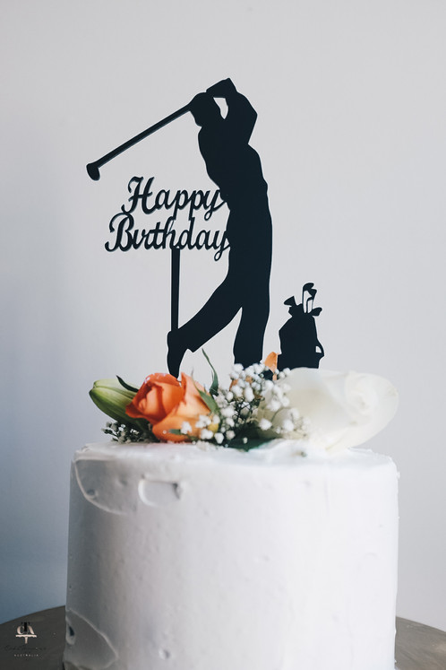 The Wholesale House >> Golf Happy Birthday Topper with Golf Bag