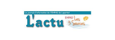 Newsletter de l'EHPAD Les 3 Sources