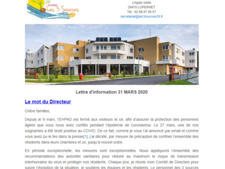 Newsletters de l'EHPAD Les 3 Sources