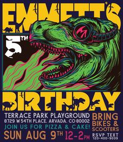 T-Rex Birthday Invite