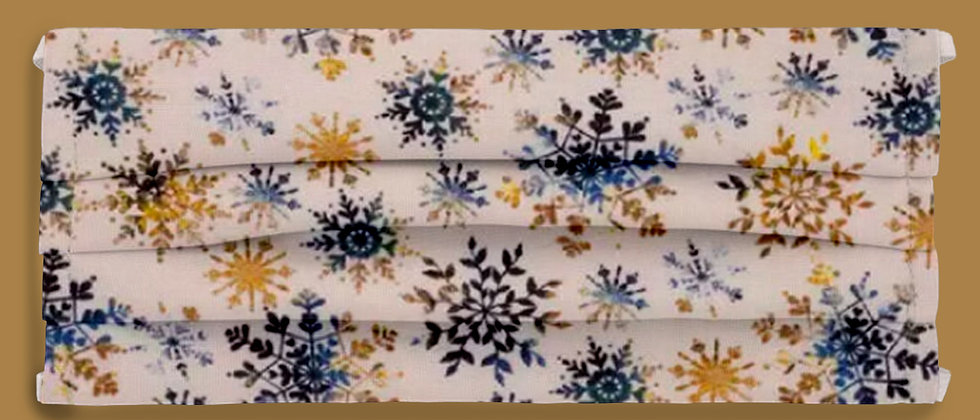 Blue & Gold Snow Flakes