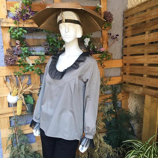 Camisa Gris con TUL