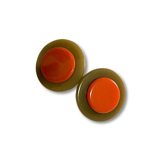 brincos botão - de pressão