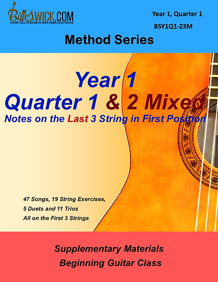 Method-Year 1, Quarter One & Two Mixed