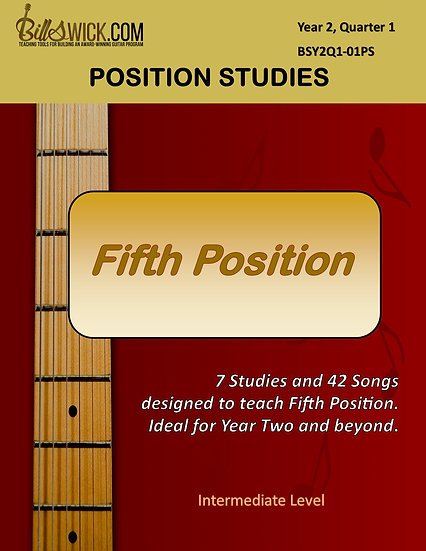 Single Note-Fifth Position Studies
