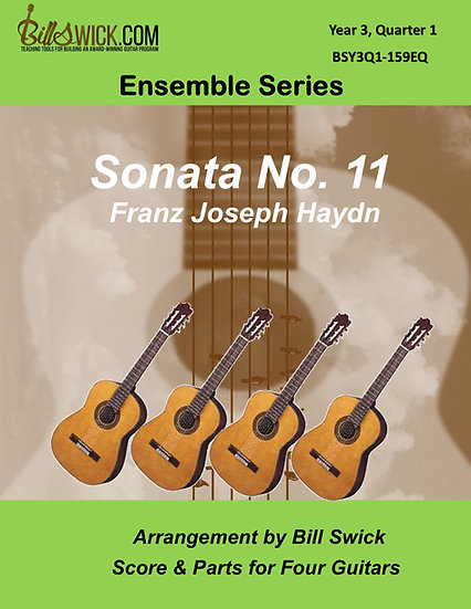 Sonata No. 11 in G Major (3 Movts)-Franz Joseph Haydn