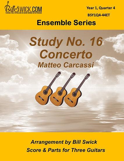 Easy-Study No 16-Concerto-Matteo Carcassi