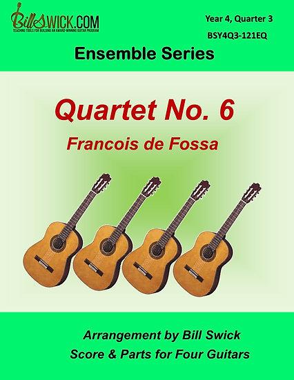Advanced-Quartet VI for Guitar by Francois de Fossa