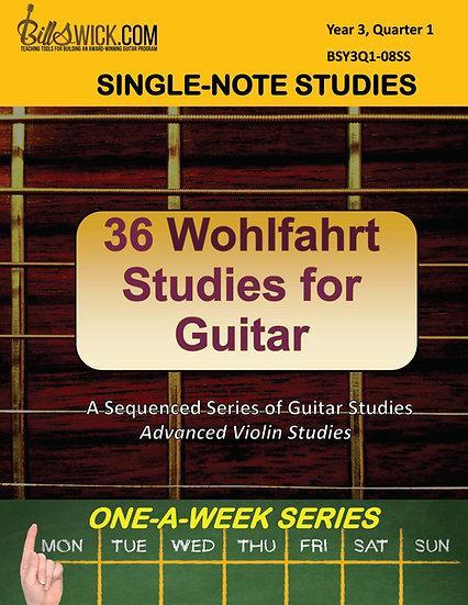 Single-Note-Wohlfahrt for Guitar