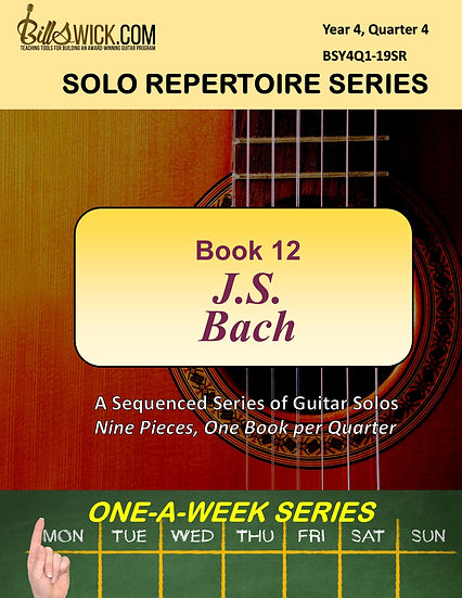 Solo Playing-Book Twelve-J.S. Bach