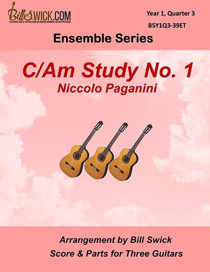 Easy-C/Am Study No. 1-Niccolo Paganini
