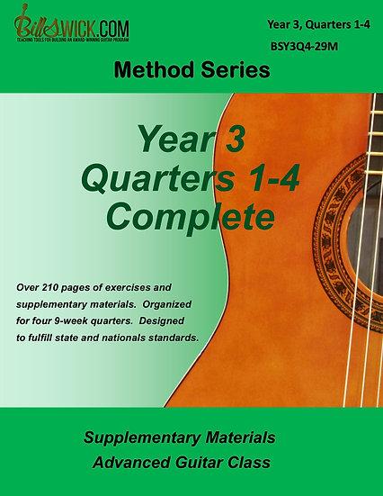 Method-Year 3, Quarters 1,2,3 & 4