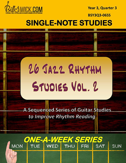 Single-Note-Jazz Rhythms Vol. 2 for Advanced Students