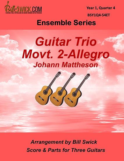 Easy-Guitar Trio Movt 2-Allegro-Johann Mattheson