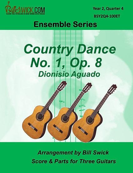 Intermediate-Country Dance No 1 Op 8-Dionisio Agado