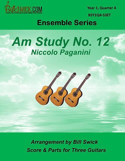 Easy-Am Study No. 12-Niccolo Paganini