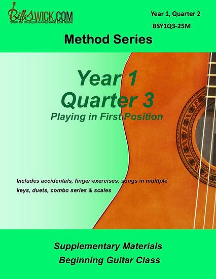 Method-Year 1, Quarter 3
