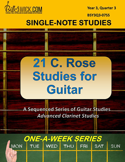 Single-Note-C. Rose for Guitar for Advanced Students