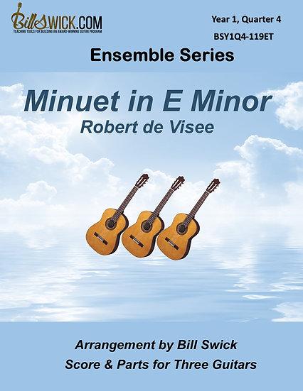 Easy-Minuet in E Minor by Robert de Visee