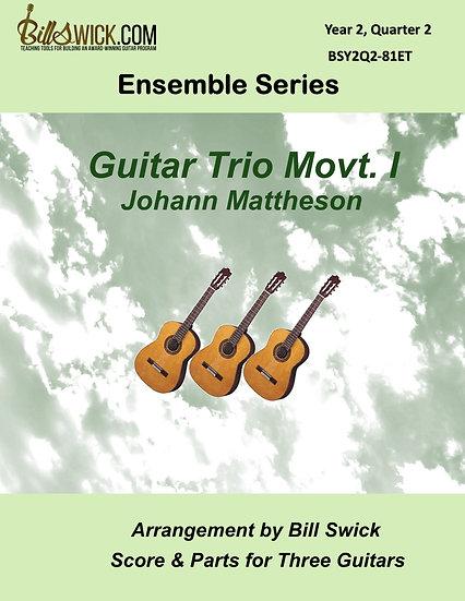 Intermediate-Guitar Trio Movt 1-Johann Mattheson