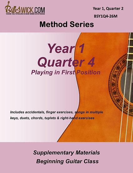 Method Year 1, Quarter 4