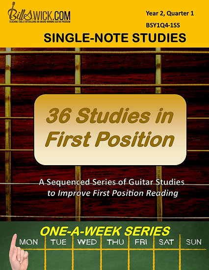 One-A-Week 36 First Position Studies