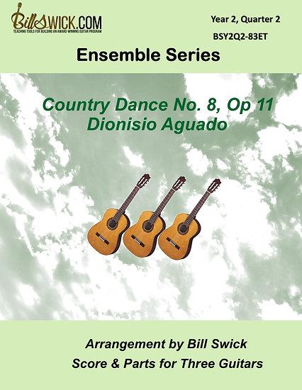 Intermediate-Country Dance No 8, Op 11-Dionisio Aguado
