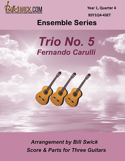Easy-Trio No. 5 by Ferdinando Carulli for 3 Guitars