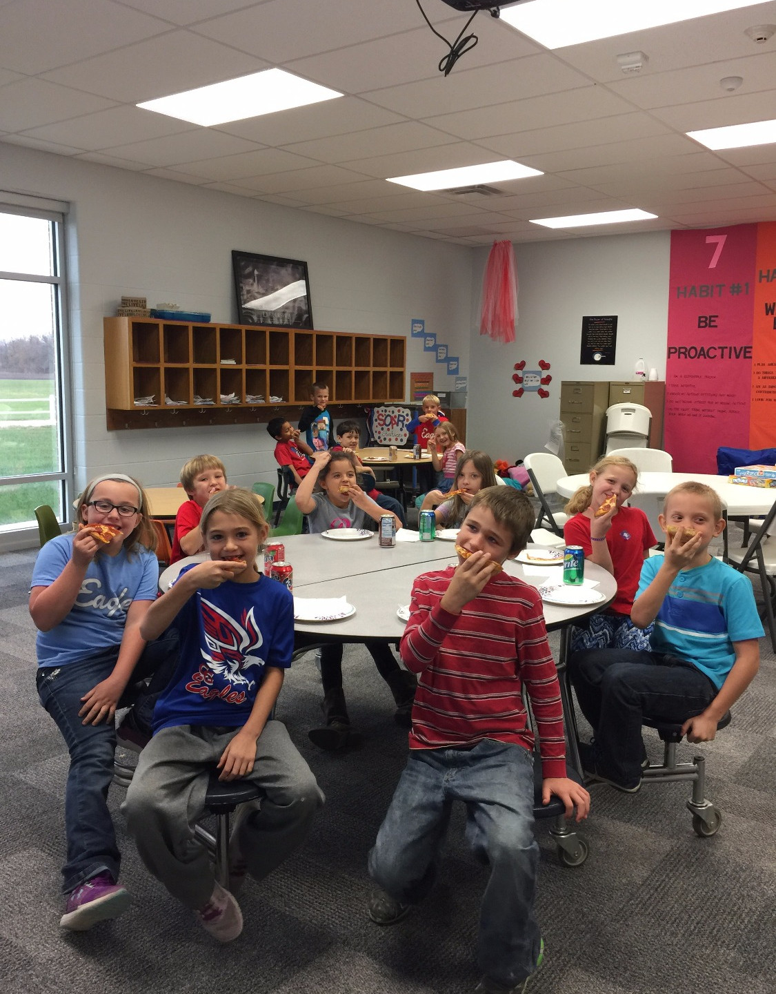 2nd grade pizza party!