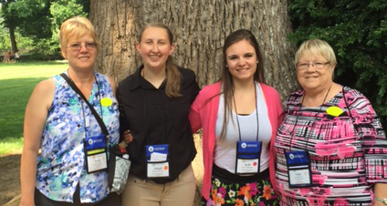Left to Right: Dinah Wiederstein, Abigail Ballantyne, Kelli Nightingale, and Cindy Baldwin attending the 2016 FRS Tour.