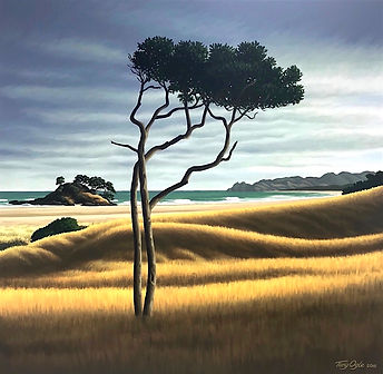Beach scene with tree