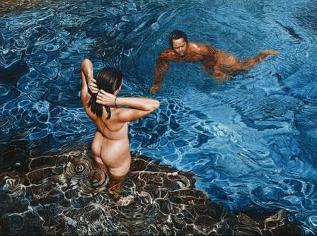 Water's Cool Seduction - Mark Cross