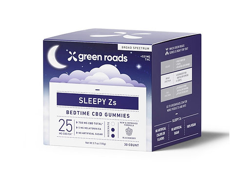 SLEEPY ZS CBD GUMMIES (30CT) - 750MG Green Roads