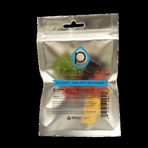 Hemplucid Full-Spectrum CBD Edible Gummies BEARS - 25mg each