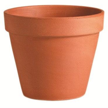 "Deroma 8.3"" Terra Cotta Standard Clay Pot"