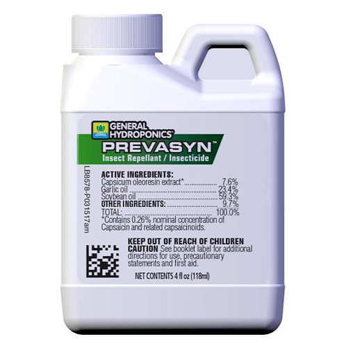 General Hydroponics® Prevasyn™ Insect Repellant/Insecticide
