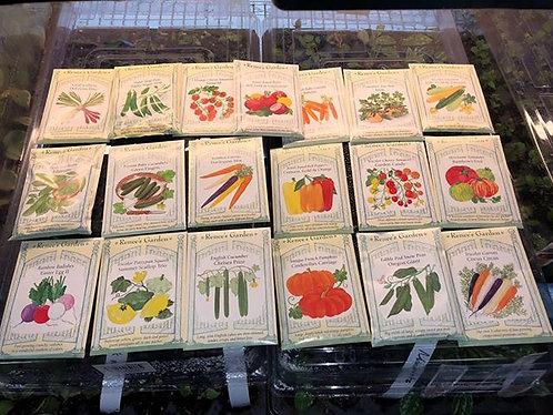 10 Packs of Assorted Renee's Garden Fruit & Veggie Seed Packs